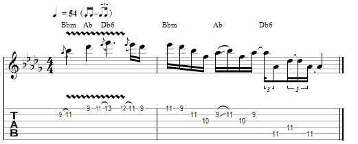Nocturne julian lage pentatonica menor