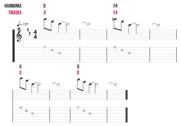 tríades guitarra muse
