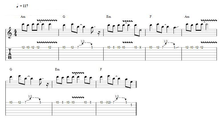 solos de guitarra faceis - zephyr song