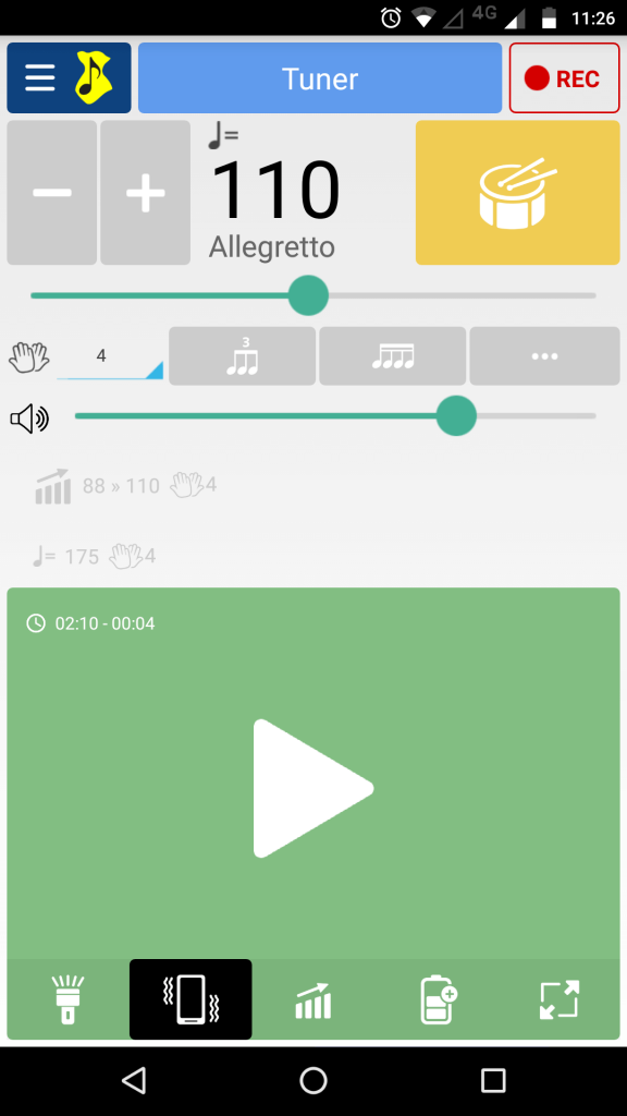 Aplicativo de metrônomo - Soundcorset