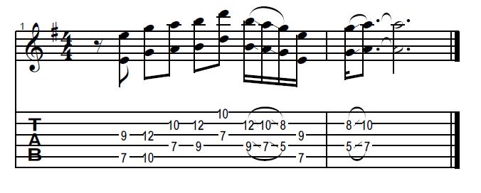 Tablatura e Partitura do Riff de Tender Surrender do guitarrista Steve Vai